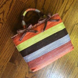 ▪️orange striped mini bag▪️purple yellow